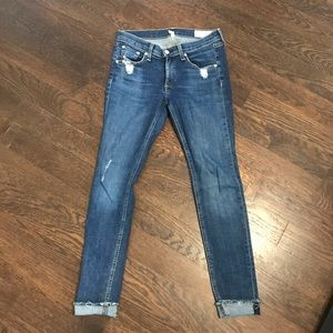 """Medium Wash """"Cate"""" Mid-Rise Skinny Jeans"""